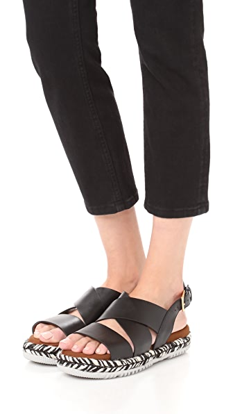 MARNI Braided Sole Sandals