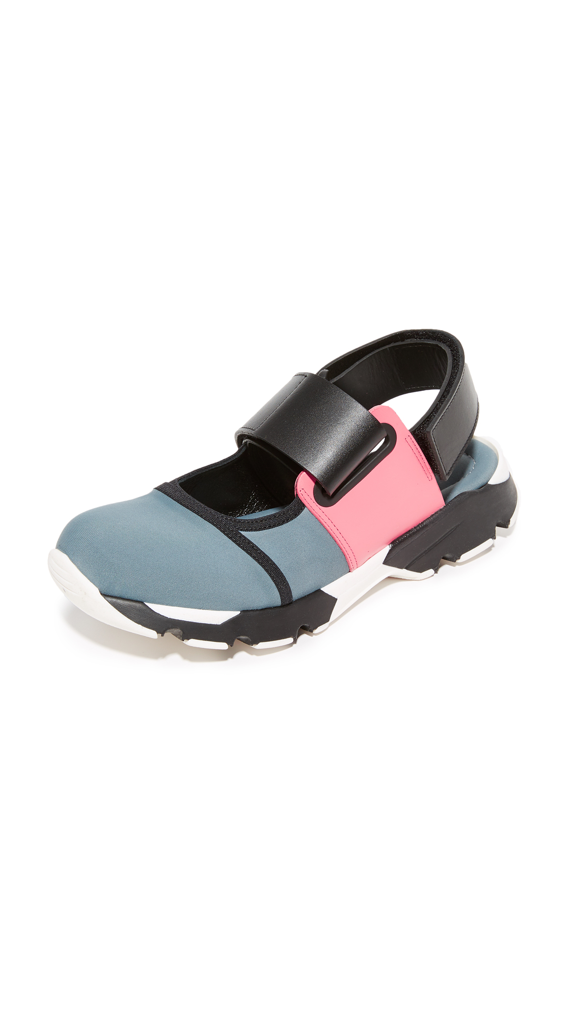 Marni Sneaker Flats - Grey/Camellia/Black