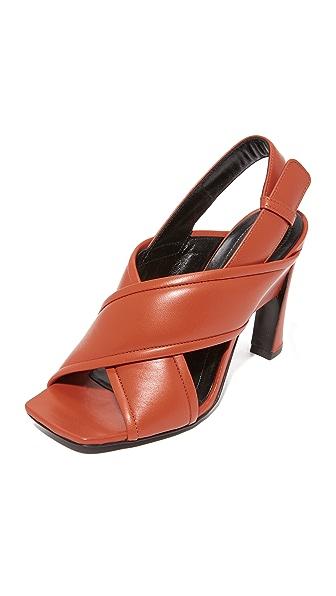Marni Heel Sandals - Brick