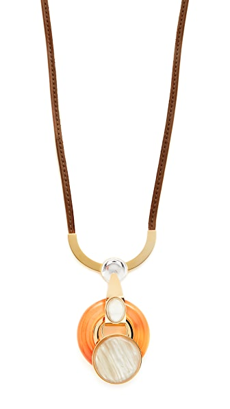 Marni Necklace with Metal & Resin - Orange