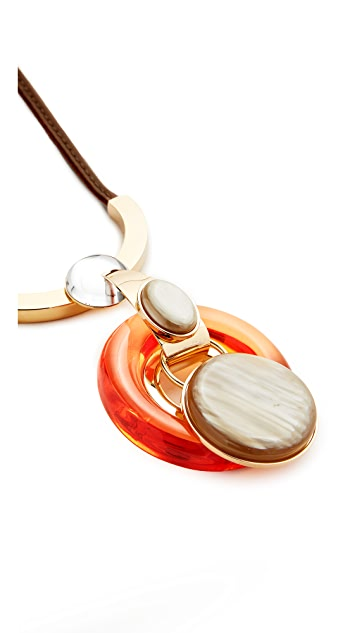 Marni Necklace with Metal & Resin