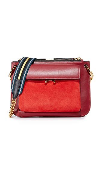 Marni Bandoleer Shoulder Bag - Orange/Burgundy/Lily White