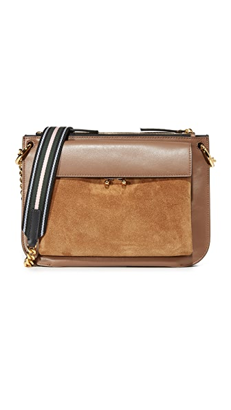 Marni Bandoleer Shoulder Bag - Marron/Gold Brown/Black