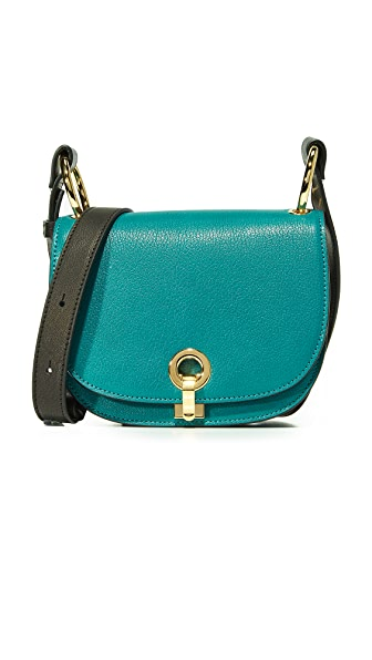 Marni Bandoleer Shoulder Bag - North Sea/Black