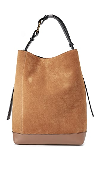 Marni Shoulder Bag - Marron/Gold Brown/Black