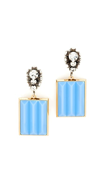 Marni Strass Earrings - Turquoise