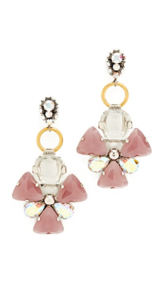 Marni Strass Earrings - Mauve
