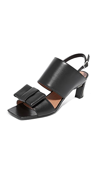 Marni Sling Back Sandals In Black