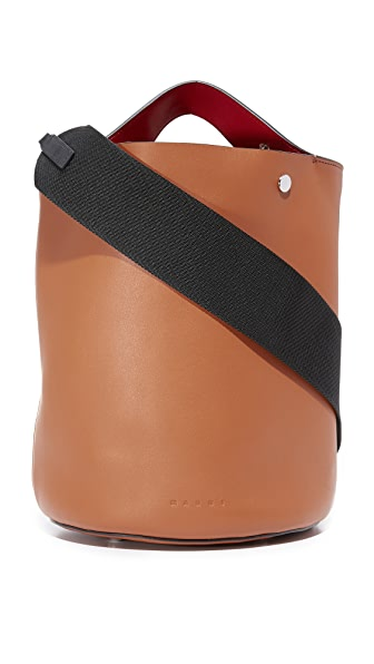 Marni Shoulder Bag - Rust/Hot Red