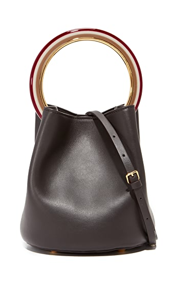 Marni Pannier Bucket Bag - Coffee/Sun