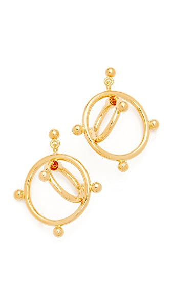 Marni Earrings Double Circles - Gold