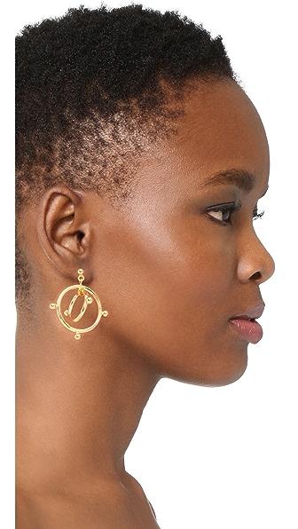 MARNI Earrings Double Circles in Золотистый
