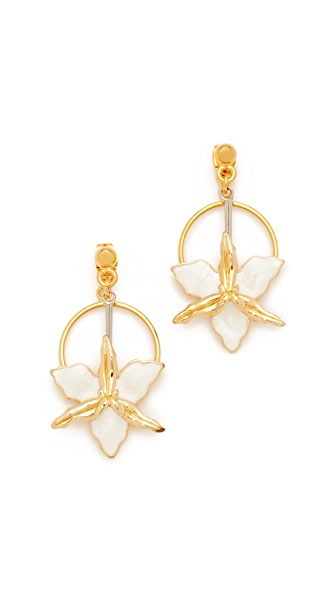 Marni Two-Sided Flower Earrings - Lily White