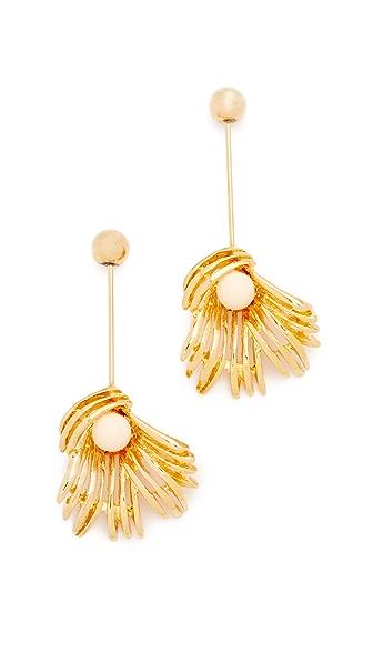 Marni Sphere & Flower Earrings - Gold