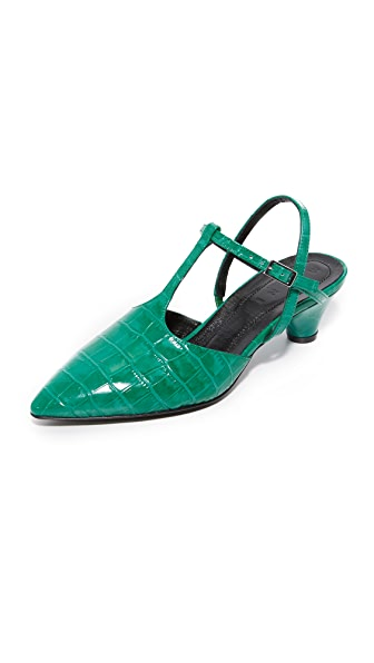 Marni Mary Jane Heels In Emerald