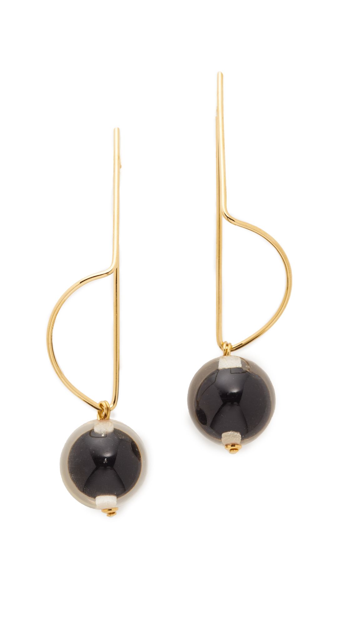 Marni Earrings with Sphere - Black