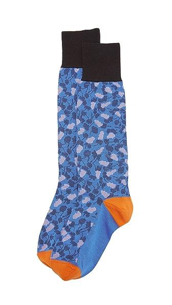 Marni Patterned Socks - Cobalt