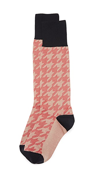 Marni Patterned Socks - Red