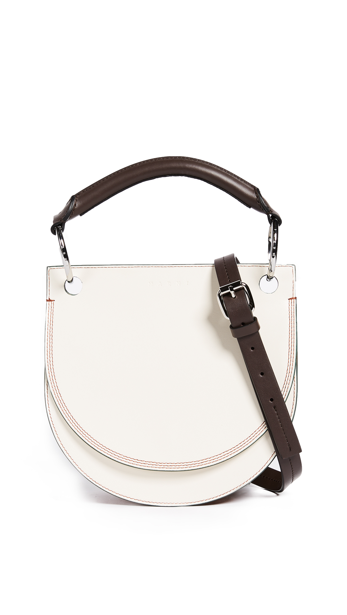 Marni Shoulder Bag - Antique White/Rock/Eggplant