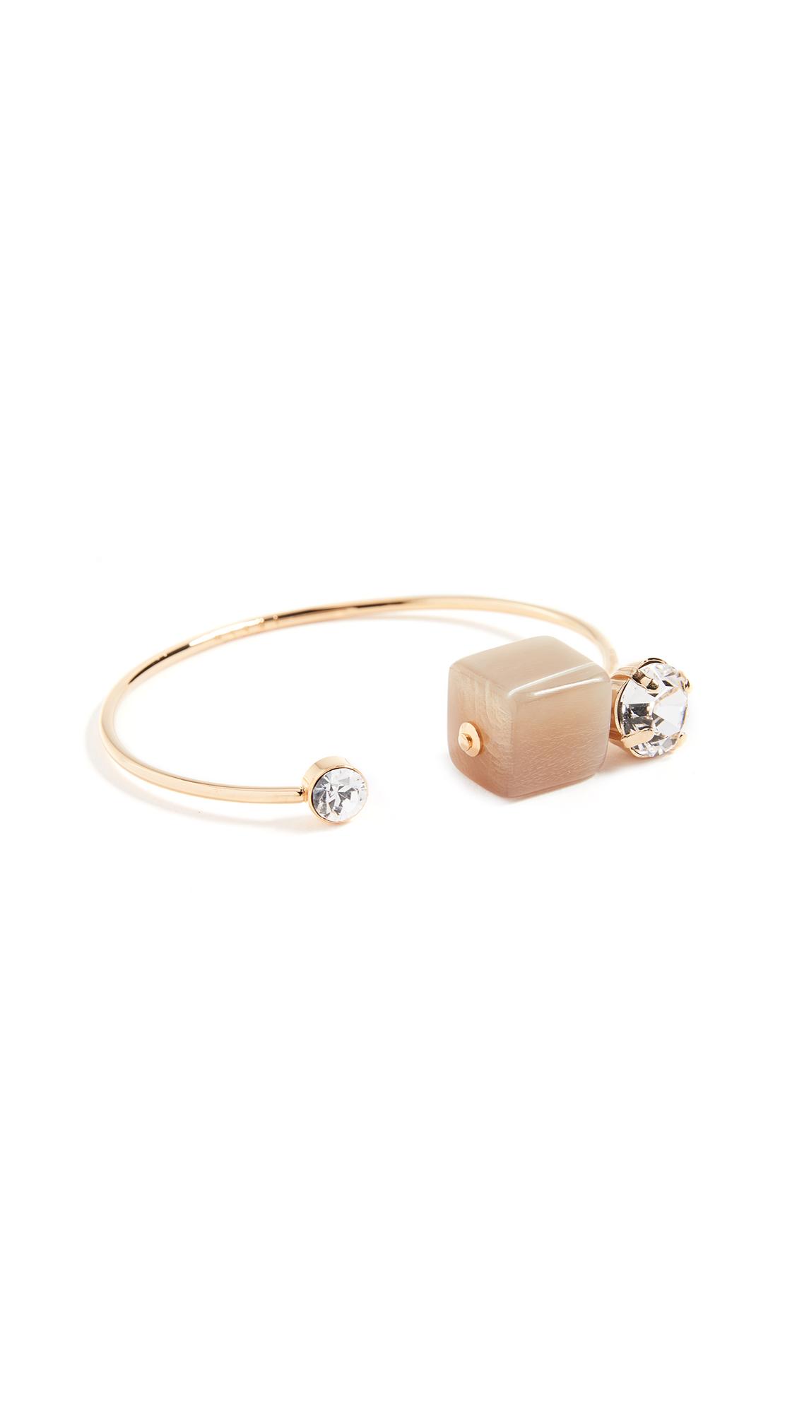 Marni Metal Horn Strass Bracelet - Pale Gold