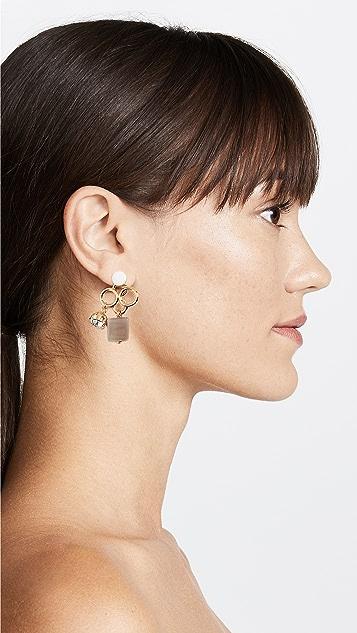 Marni Metal Horn Strass Earrings