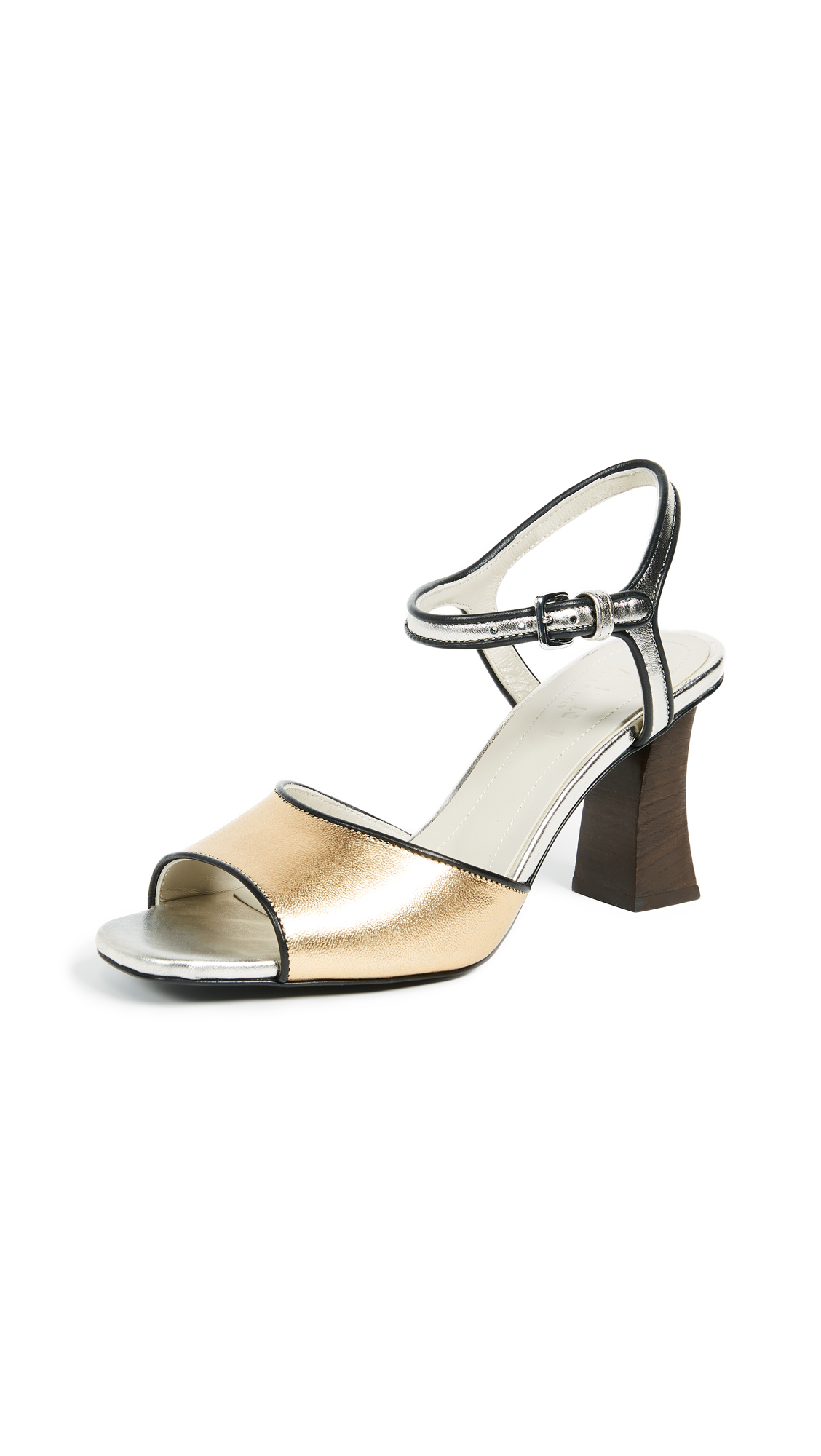 Marni Strappy Sandal Pumps - Light Gold Sand/Silver