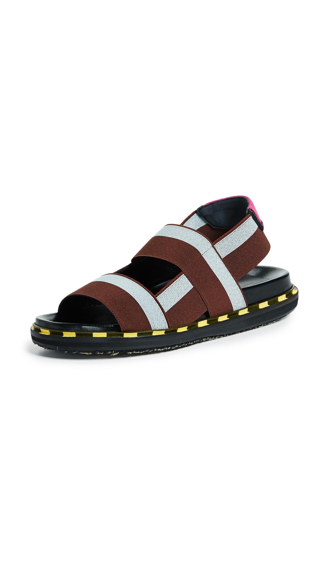Marni Fussbett Sandals - Aquamarine/Brandy