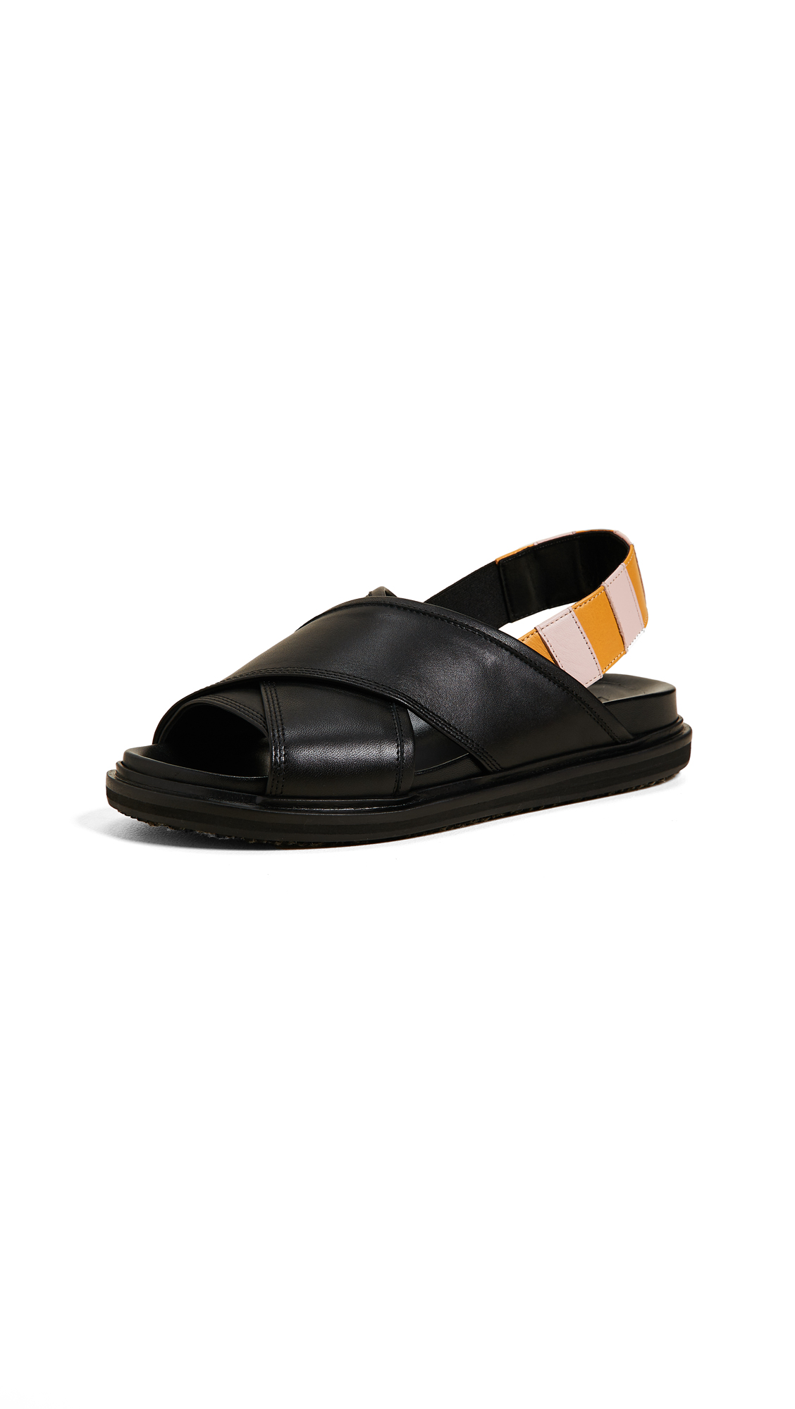 Marni Fussbett Sandals - Black/Quartz/Saffron