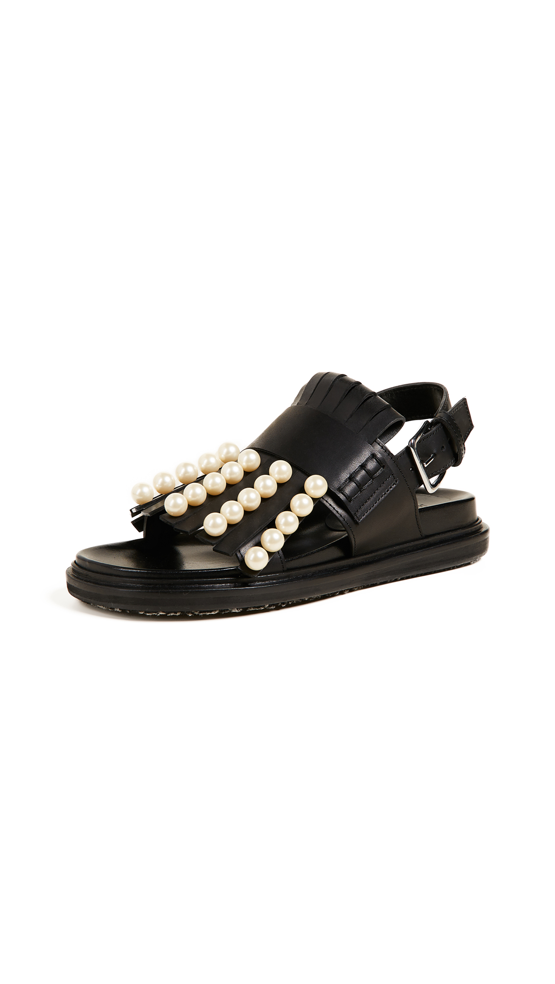 Marni Fussbett Sandals - Black