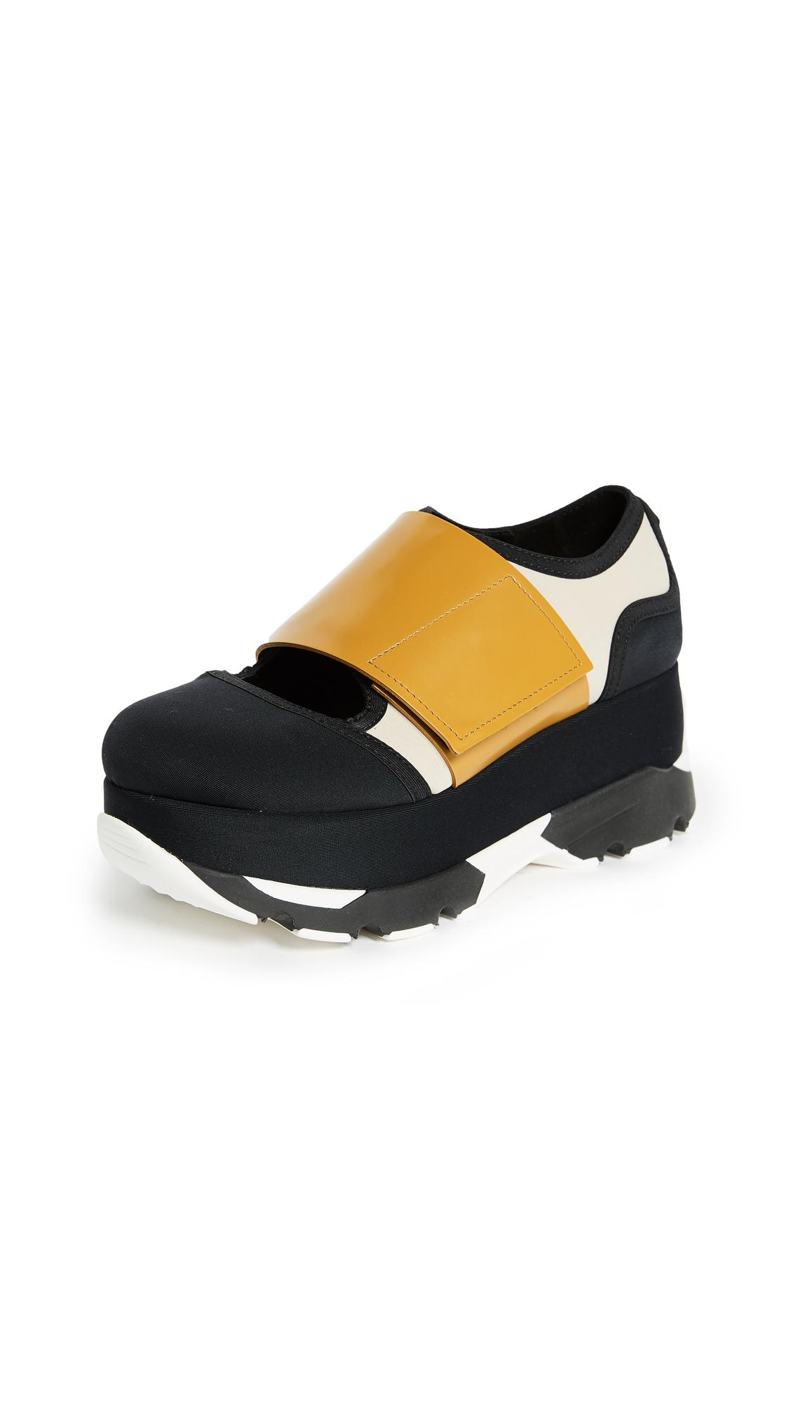 Marni Platform Sneakers - Black/Swan/Ochre
