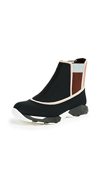 Marni High Top Slip On Sneakers In Black/Quartz/Swan