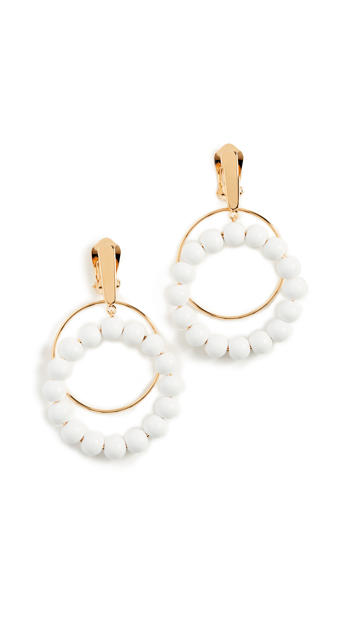 Marni Sphere Clip On Earrings - Lily White