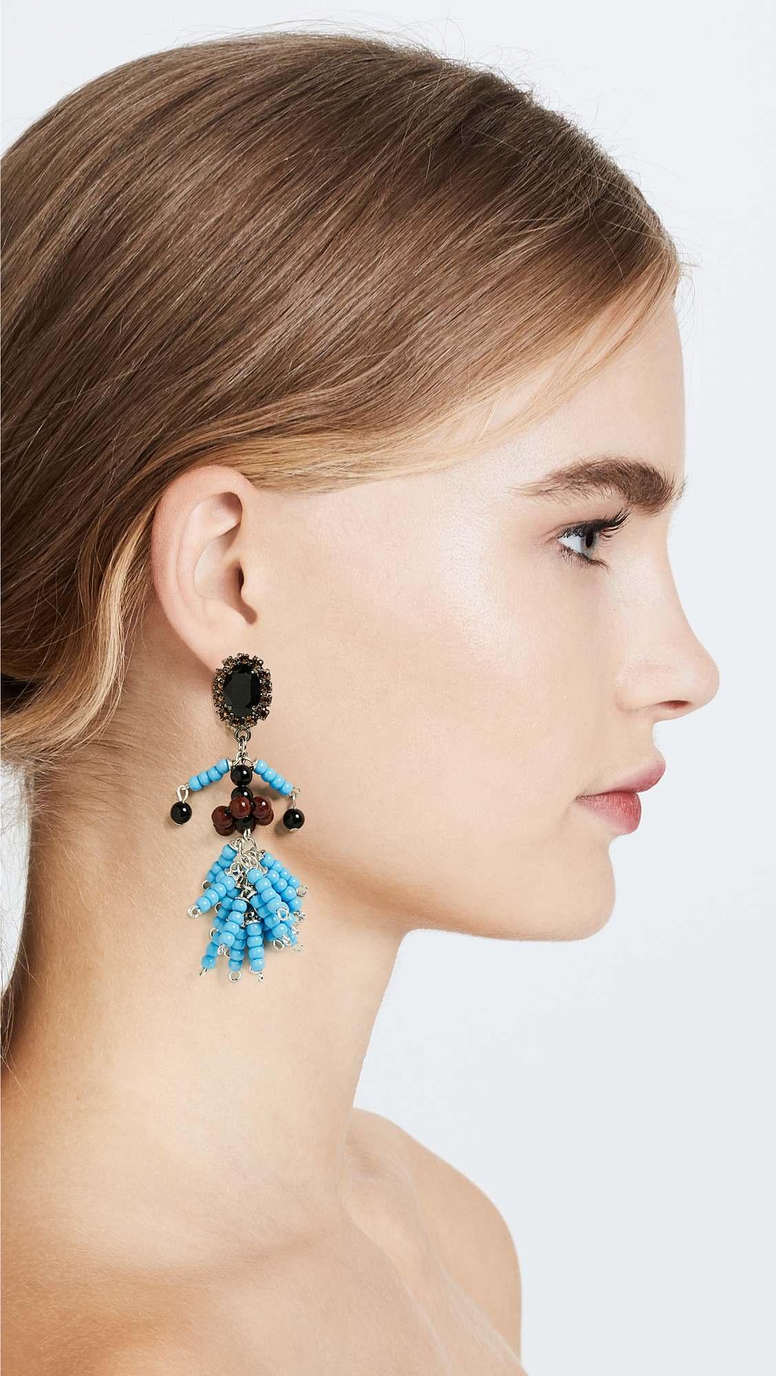 Marni Resin Spheres & Strass Earrings