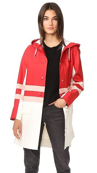 Marni Rain Jacket In Quartz/Stone White/Lacquer