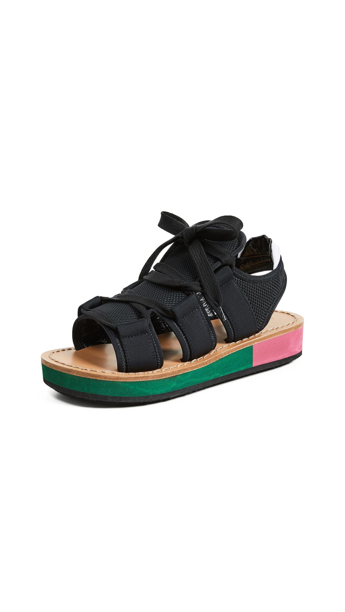 84b2e70696e Marni Wedge Sandals In Black Black Lily