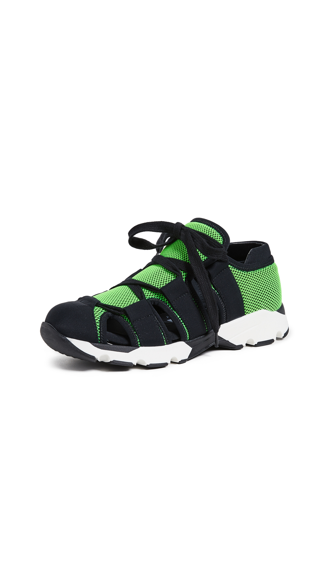Marni Cutout Sneakers - Acid