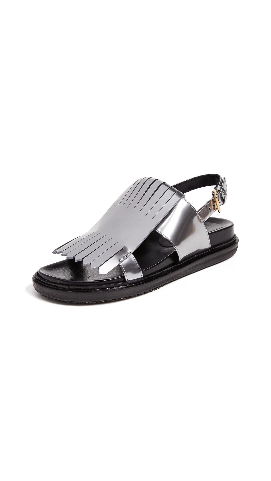 Marni Fussbett Sandals - Silver