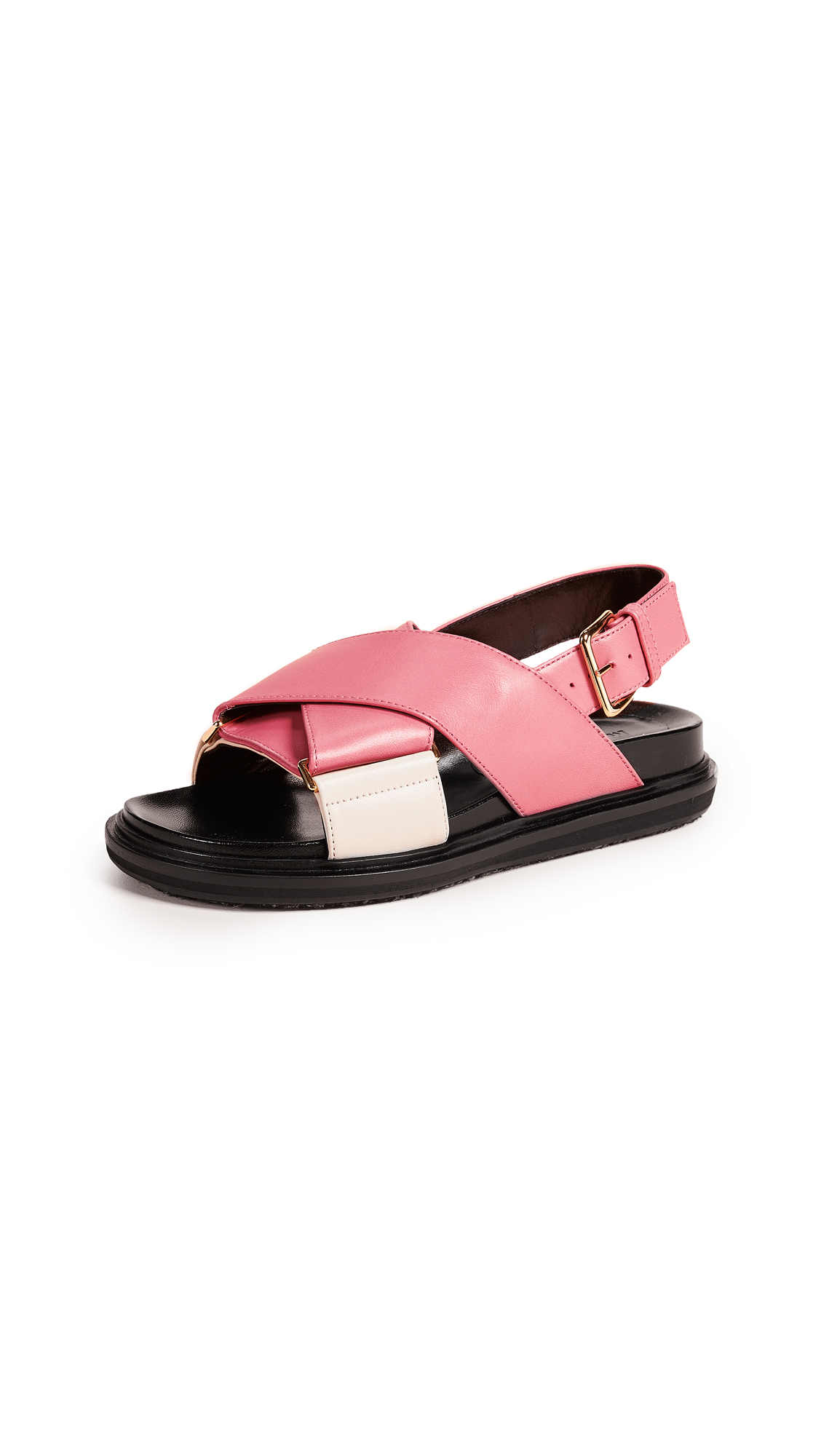 Marni Fussbett Sandals - Pink Candy/Antique White