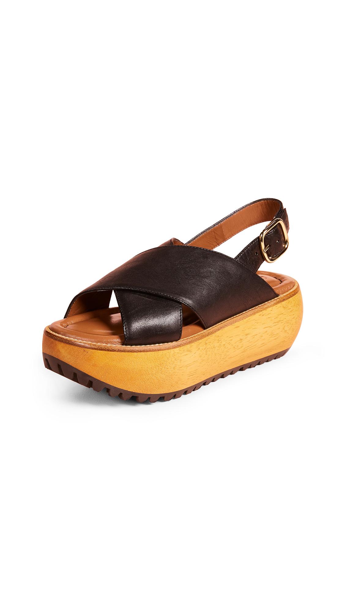 Marni Platform Sandals - Black