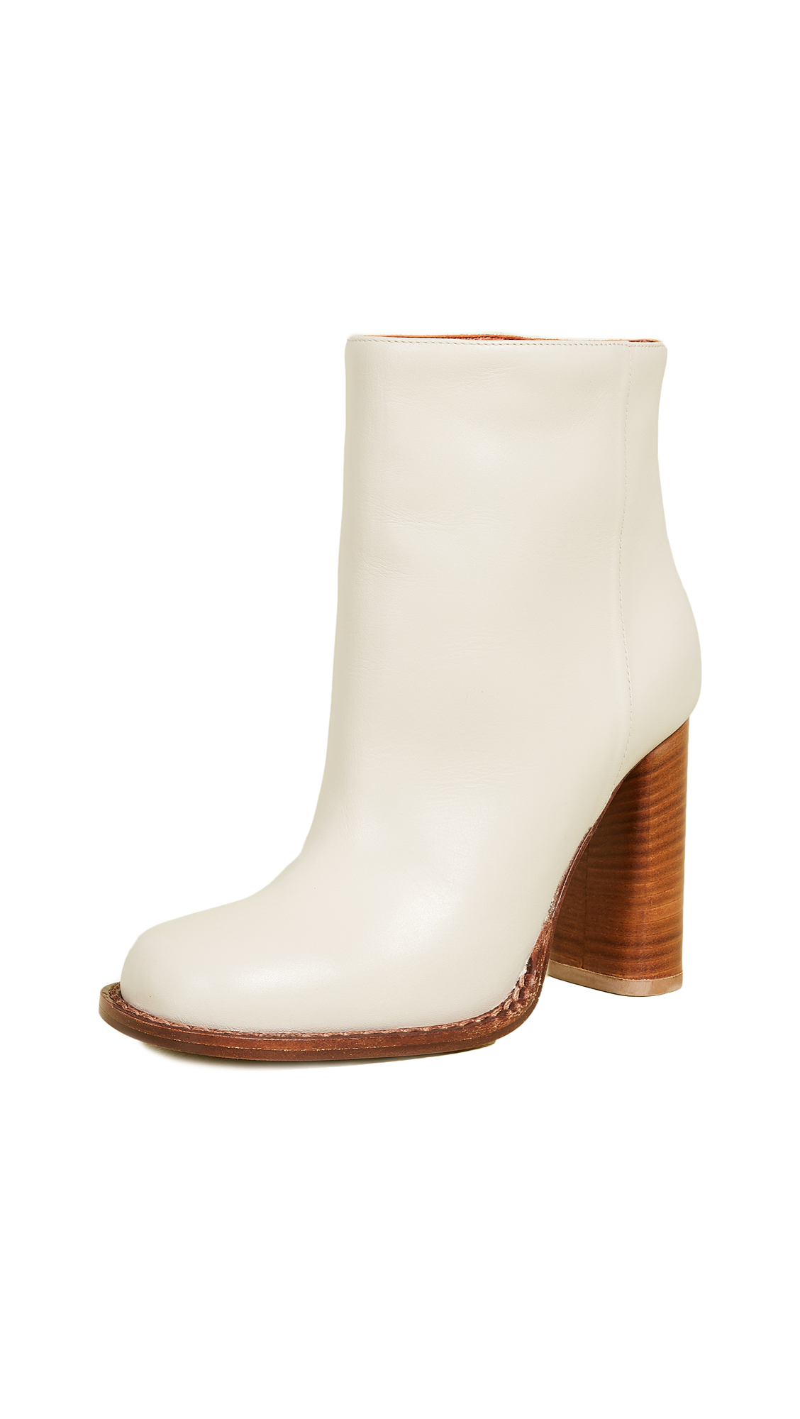 MARNI Leather Ankle Boots in Neutrals