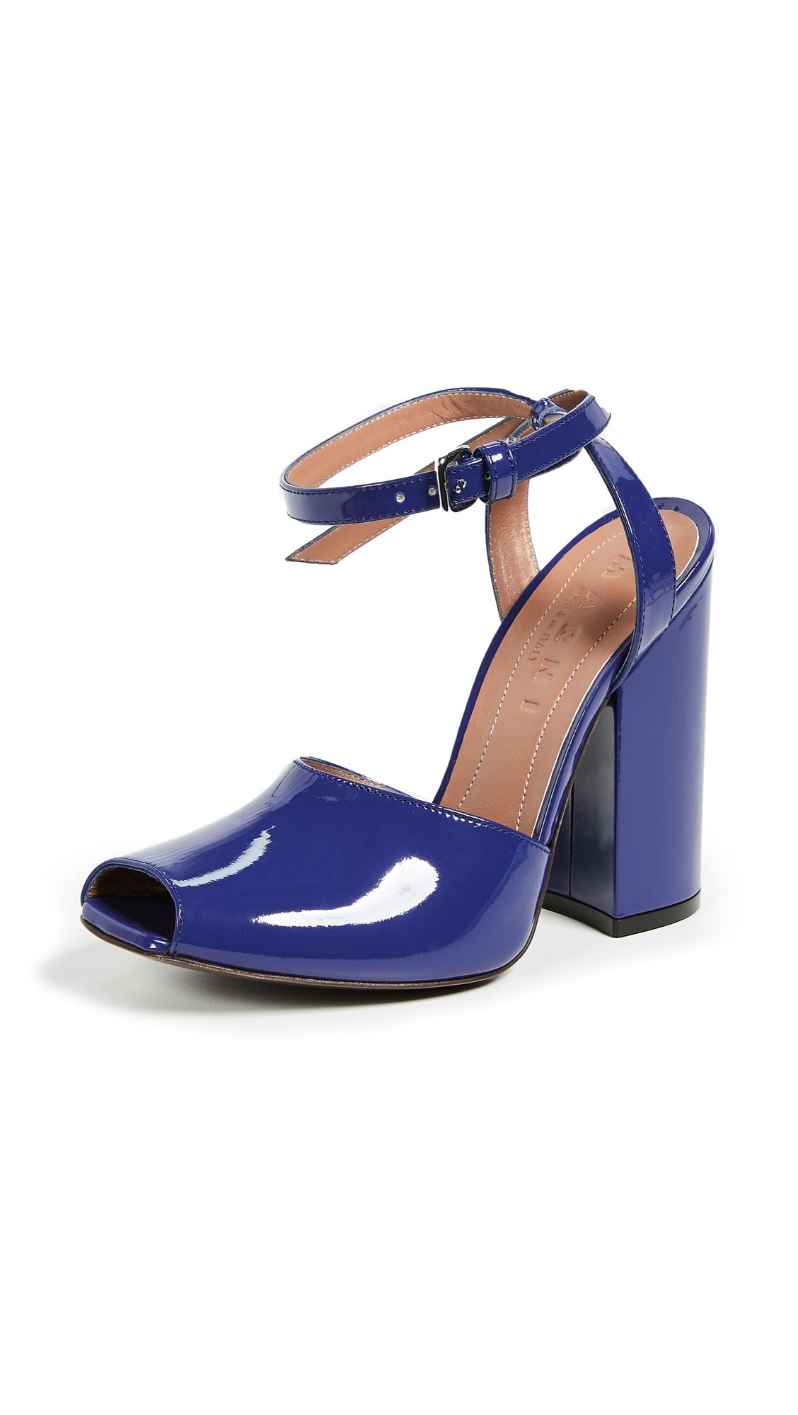 Marni Ankle Strap Sandal Pumps - India Ink