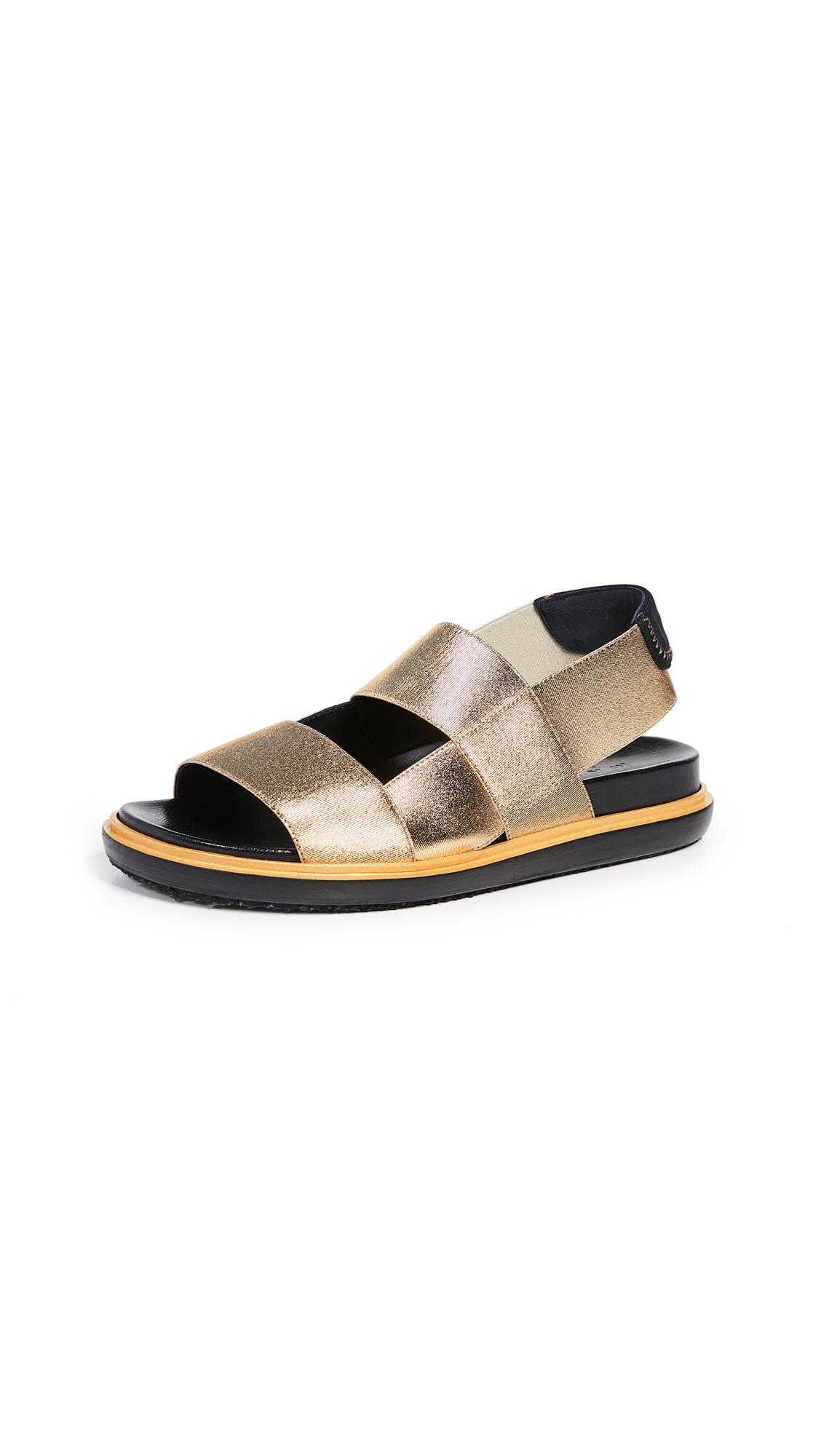 Marni Fussbett Sandals - Gold Sand
