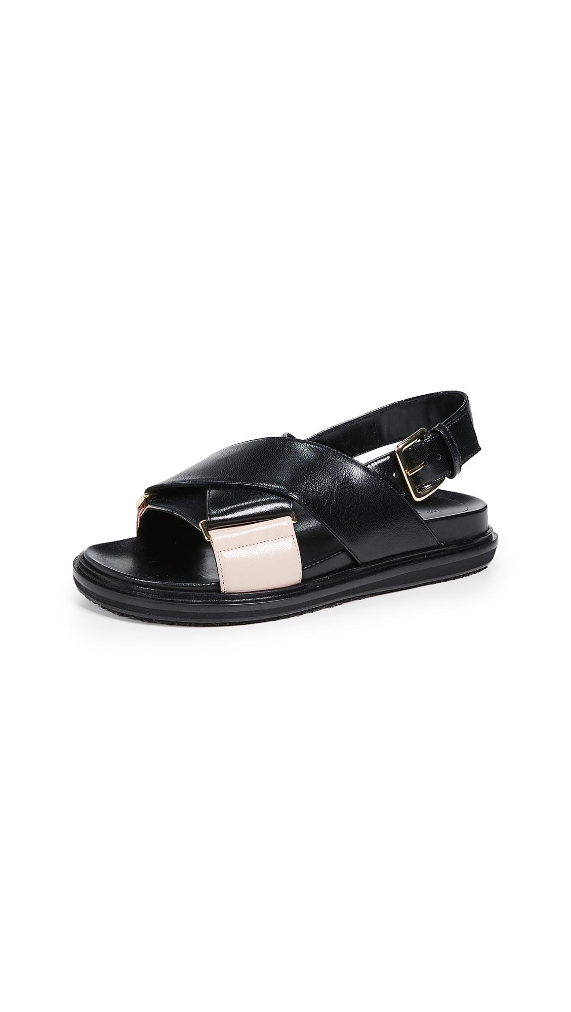 Marni Fussbett Sandals - Black/Tan