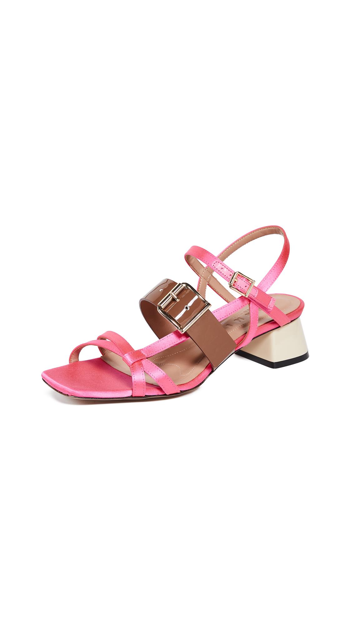 Marni Mid Heel Sandals - Candy/Marmot