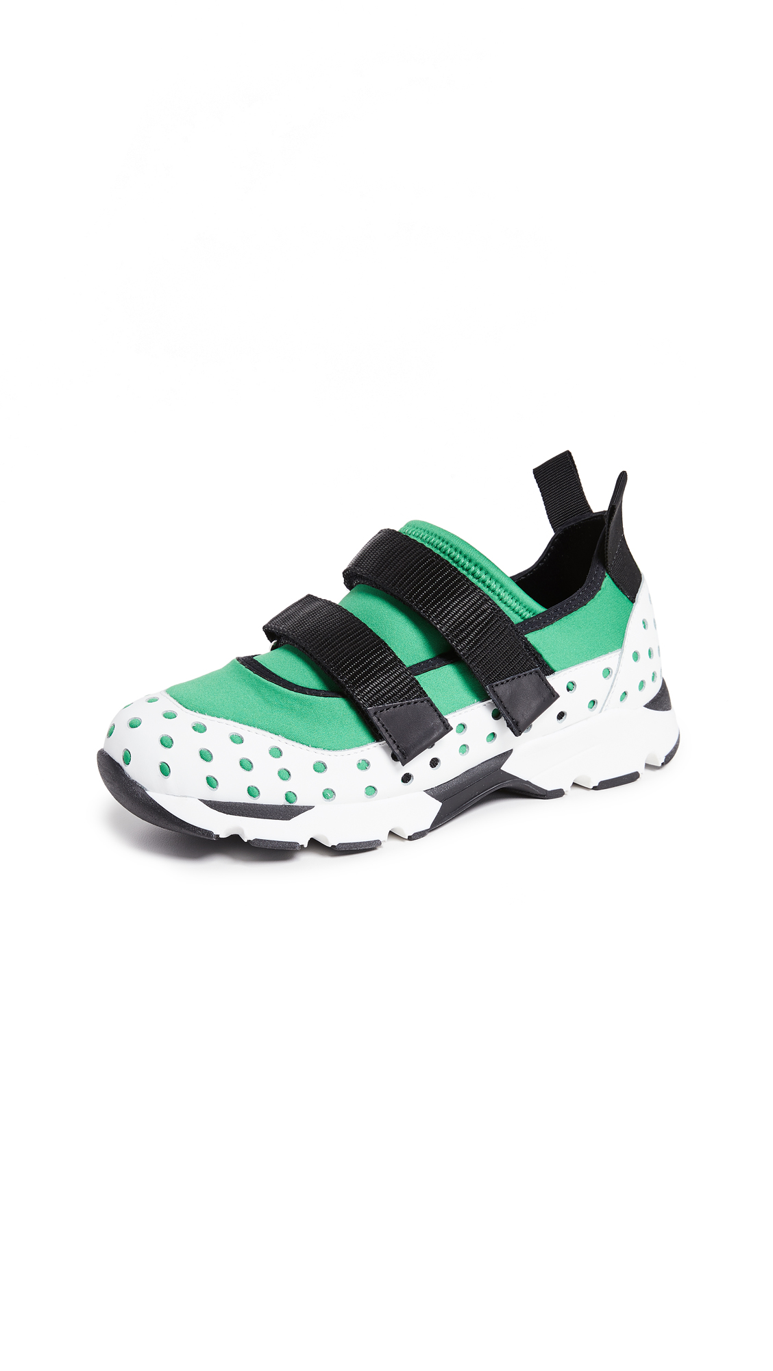 Marni Velcro Two Strap Sneakers - Garden Green/Lily