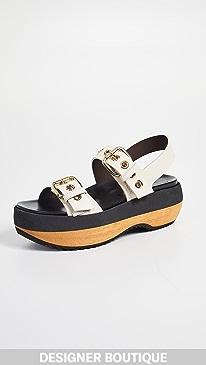 Designer Platform Wedge Sandals
