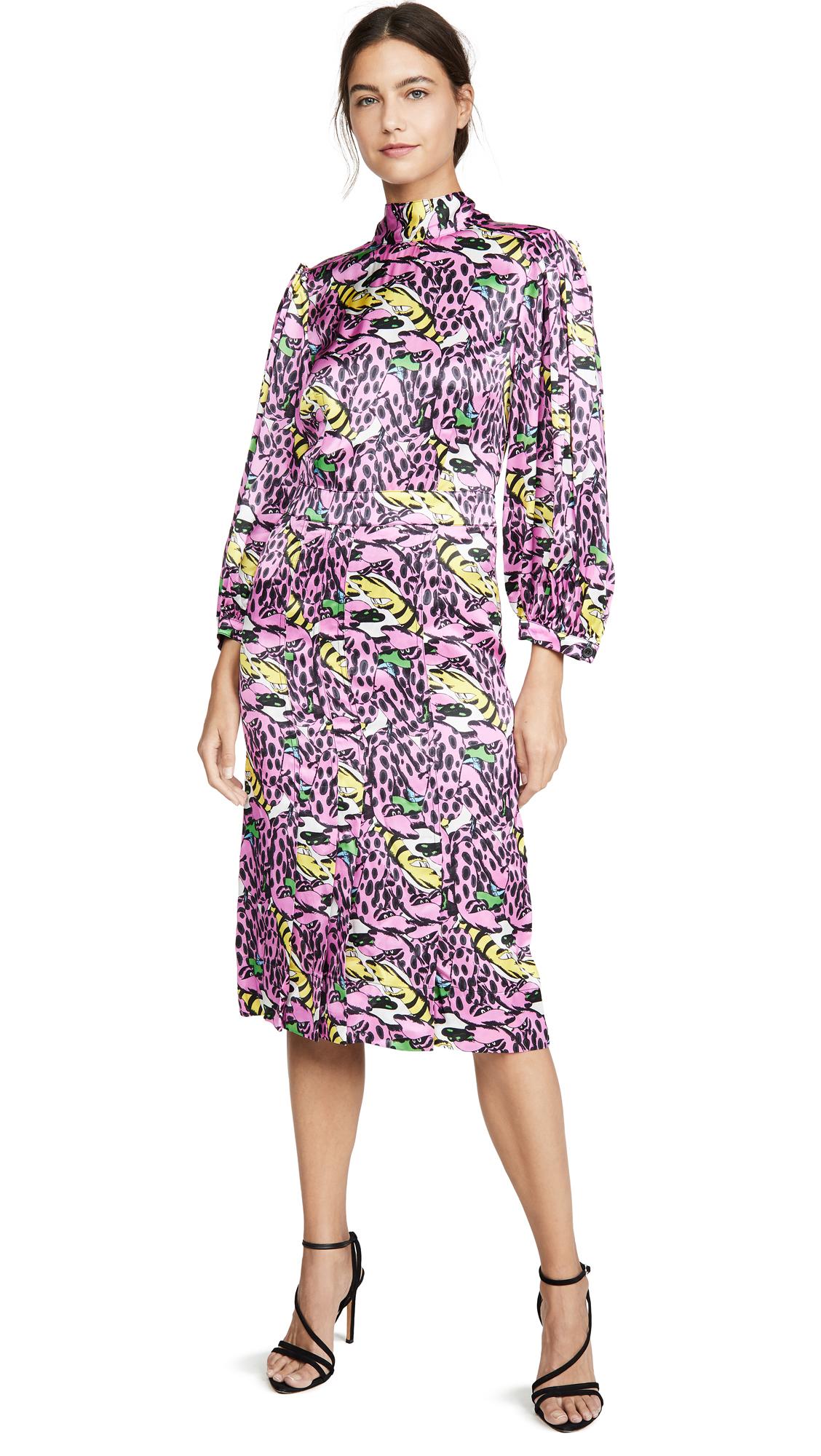 Buy Marni Long Sleeve Printed Dress online beautiful Marni Dresses, Strapless