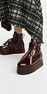 Marni 厚底系带短靴