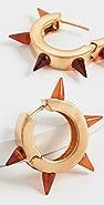 Marni 树脂和金属圈式耳环