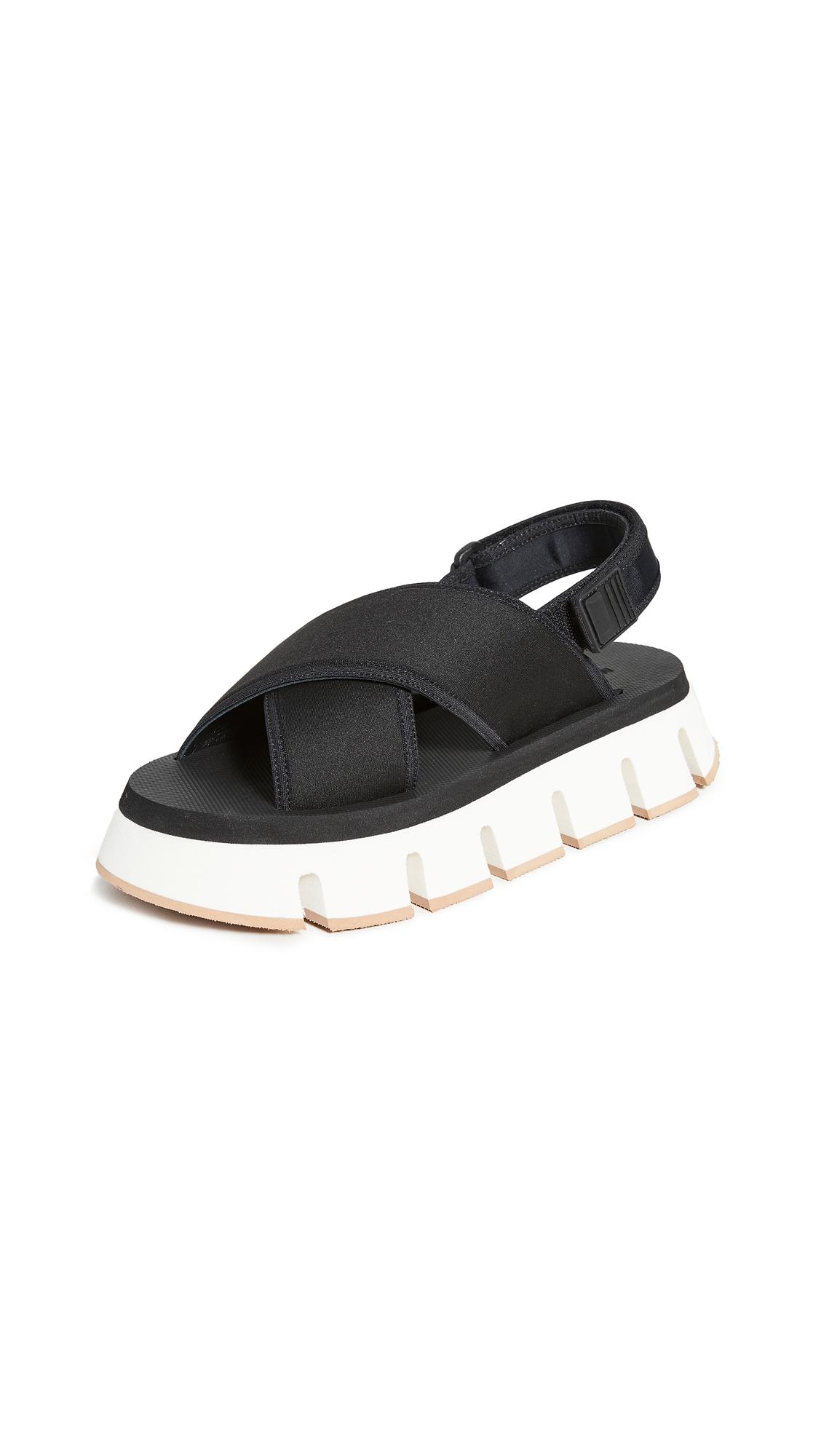 Buy Marni Platform Track Sole Crisscross Sandals online, shop Marni